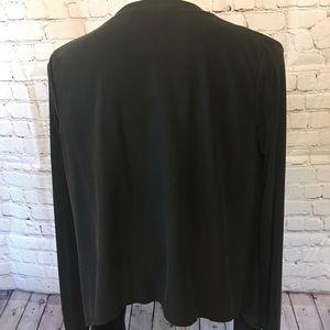 BCBGMaxAzria Tops - BCBG Black Asymmetrical Cardigan